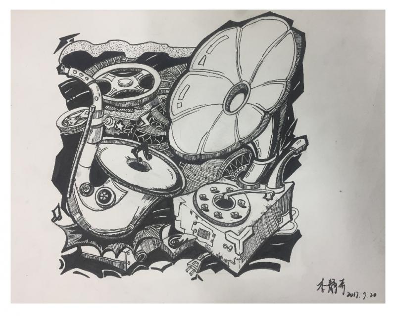 丹东启点画室设计作品